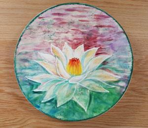 Eagan Lotus Flower Plate