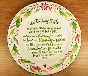 Eagan The Giving Plate