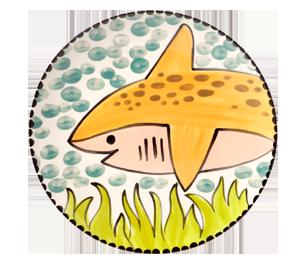 Eagan Happy Shark Plate