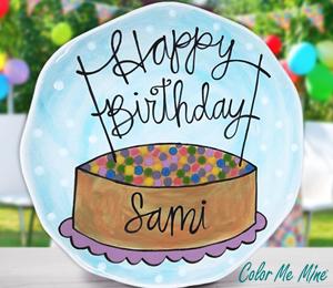 Eagan Birthday Plate
