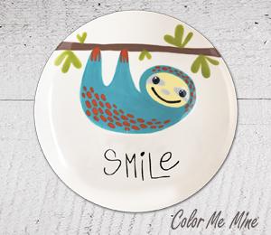 Eagan Sloth Smile Plate