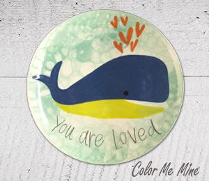 Eagan Whale Love Plate