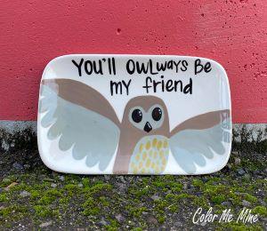 Eagan Owl Plate