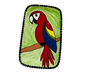 Eagan Scarlet Macaw Plate